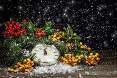 Christmas clock Stock Photos