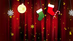 Christmas Cloth Ornaments 2 Loopable Background stock footage