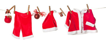 Christmas clothes line Stock Photography