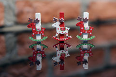 Christmas clothes peg Royalty Free Stock Photo
