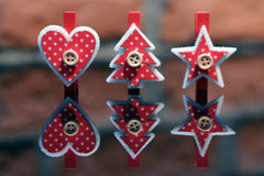 Christmas clothes peg. Christmas decoration: christmas clothes peg Stock Images