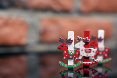 Christmas clothes peg Royalty Free Stock Photos