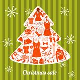 Christmas clothes set, vector illustration Royalty Free Stock Photo