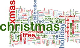 christmas cloud word Στοκ Φωτογραφίες
