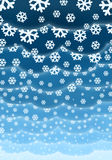 Christmas clouds background. With falling snowflakes Royalty Free Stock Photo