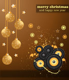 Christmas Club Party Background Stock Image