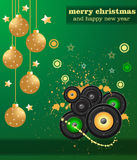 Christmas Club Party Background Royalty Free Stock Image