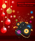 Christmas Club Party Background Royalty Free Stock Photography