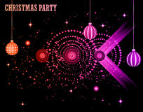 Christmas Club Party Background Royalty Free Stock Photos