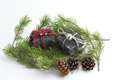 Christmas coal Stock Image
