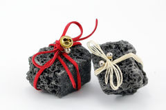 Christmas coal Royalty Free Stock Images