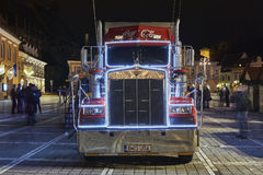 Christmas Coca-Cola truck Stock Photography