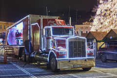 Christmas Coca-Cola truck Royalty Free Stock Images