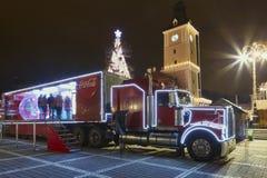 Christmas Coca-Cola truck Stock Photos