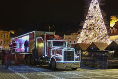 Christmas Coca-Cola truck Stock Image
