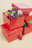Christmas Cockades in a Box Stock Photo