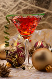 Christmas cocktail Stock Image