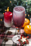 Christmas Cocktail with Ice Cube Stock Photos