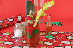 Christmas Cocktail Still Life Royalty Free Stock Photos