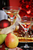 Christmas cocktails royalty free stock photos