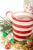 Christmas cocoa drink Royalty Free Stock Image