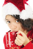 Christmas Cocoa Sipper Royalty Free Stock Images
