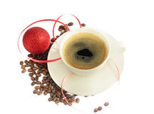 Christmas coffee. Isolated on white Stock Photography