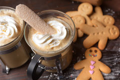 Christmas coffee Stock Images