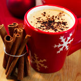 Christmas coffee with cinnamon Stock Photos