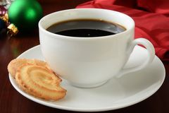 Christmas coffee and cookies Royalty Free Stock Photos