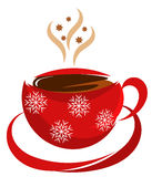 Christmas Coffee Cup Stock Photography