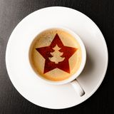 Christmas coffee Royalty Free Stock Image