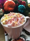 Christmas coffee. Christmas, coffee, cup, marshmallow, holiday Royalty Free Stock Images