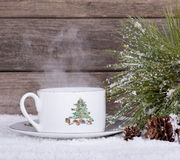 Christmas Coffee Cup Royalty Free Stock Photos