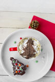 Christmas Coffee and Dessert. Christmas Background Royalty Free Stock Photos