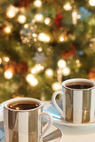 Christmas Coffee Espresso Cups Stock Photo