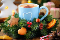 Christmas coffee Royalty Free Stock Photography