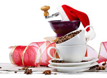Christmas coffee grinder Royalty Free Stock Photography