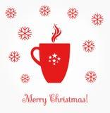 Christmas coffee mug Stock Photos