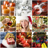 Christmas collage. Beautiful christmas collage made from nine photos Royalty Free Stock Images