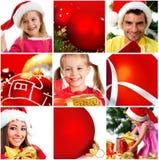 Christmas collage. Studio shot on white Royalty Free Stock Photography