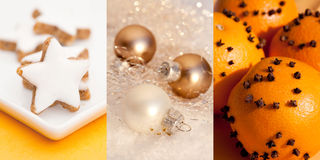 Christmas Collage. With christmas bulb Stock Photography