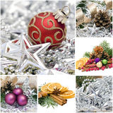 Christmas collage. Made from six pictures Stock Photos