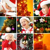 Christmas collage royalty free stock photography
