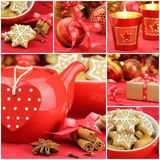 Christmas collage. Composed of six Christmas related images Royalty Free Stock Photography