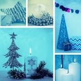 Christmas collage Stock Photos