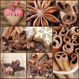 Christmas collage. Christmas cookie baking and ingredients collage Stock Image