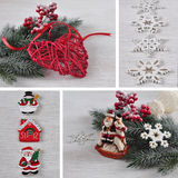 Christmas collage. Royalty Free Stock Photos