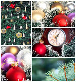 Christmas collage. This high quality photograph represents Christmas collage Stock Photography