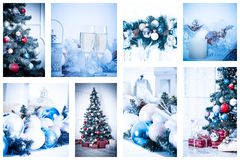 Christmas collage Stock Photo
